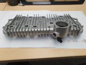 Vapour blasted cylinder head casting
